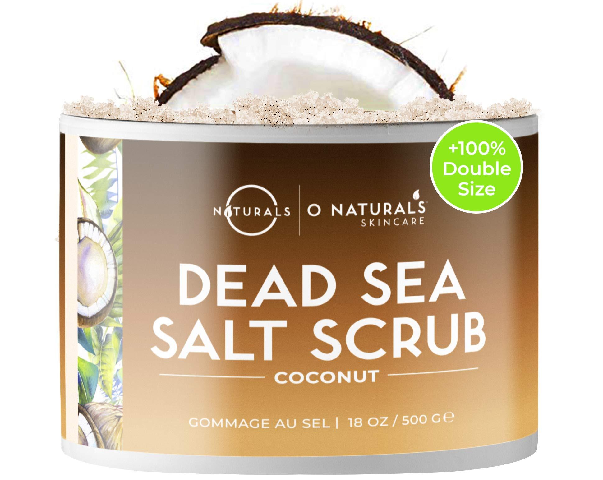Exfoliante Natural Facial Corporal y Pies Sal Mar Muerto Al Aceite de Coco Anticelulítico Reafirmante Drenaje Hidratante…