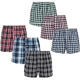 Style It Up 3-12 Packs Mens/Boys Woven Boxers Shorts Designer Briefs Cotton Rich Underwear Black Blue S M L XL Multipack