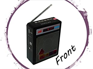 Selling Uniqness Sonilex Portable FM Radio have LED Display with USB Pen Drive / SD Player (Black)