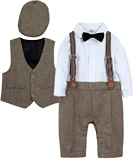 1-5 Years Pants mintgreen Baby Boys Gentleman Suit Set Short Sleeve Shirt with Bowtie Waistcoat