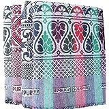 Mandhania Viscose 400 TC Solupuri Bedsheet (Single_Multicolour)