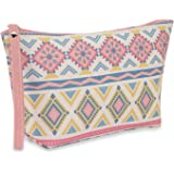 NFI essentials PU Geometric Print Makeup Pouches for Women Stylish Pouch for Makeup accessories Travel pouch Cosmetic Pouches