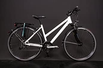 "28"" Zoll Alu Fahrrad Trekking Damen Rad Shimano Deore 24 Gang Nabendynamo weiss"