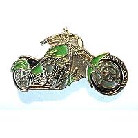 Green Custom Chopper Bike Biker Moto Chop Moto Metal Docker Badge