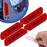 4 x reflecterende waarschuwingsstickers voor autodeur