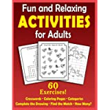 Fun and Relaxing Activities for Adults: Puzzles for People with Dementia [Large-Print]: 2 (Easy Puzzles)