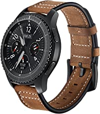 EloBeth für Samsung Gear S3 Frontier / Classic Watch Armband - Leder Sportarmband Uhr Band Strap Erstatzband Uhrenarmband für Samsung Gear S3 Classic/Frontier Samrtwatch,(Nicht für Gear S2 Classic)