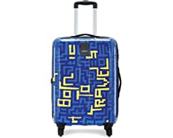 Safari Polycarbonate Thorium Maze 55 4W Printed Hard Luggage (Multicolor)