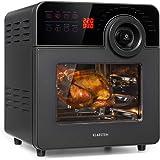 KLARSTEIN AeroVital Cube Chef - Friggitrice ad Aria, 1700W, DuoHeating Technology, Volume: 14L, 16 Programmi, Touchscreen, Ti