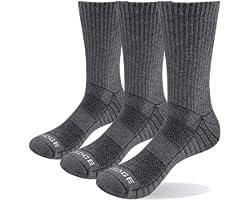 YUEDGE Men's Hiking Walking Socks Solid Cushion Crew Training Gym Fitness Sports Socks For Male Size 6-13