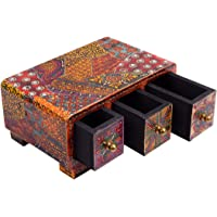 UMHISHOP Mini Bed Side Wood Showpiece / Drawer /Table top (8 (L) x 5 (W) x 4 (H) Inches)