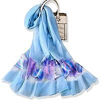 YFZYT Donna Moda Organza Morbida sciarpa Scialle Collo Avvolto Foulard, Anti-UV Sciarpa di Seta di Lusso di Colore…