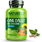 NATURELO One Daily Multivitamin for Men 50+ - with Whole Food Vitamins - Organic Extracts - Natural Supplement - Best for Ene
