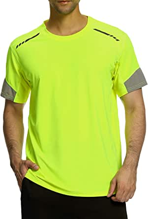 Men's Gym T-Shirt,Sports Short Sleeve top,Moisture Wicking Quick Dry Stretch Tee Breathable Running Tops for Men Gym Training Marathon Workout Athletic Base Layers Shirts