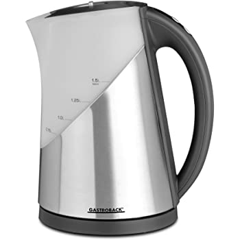 Gastroback 42420 Wasserkocher Edelstahl 1.5 liters, Grau, Silber