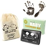 Baby Handabdruck Hand - und Fuß Abdruckset – schwarzes Stempelkissen für Hand und Fußabdrücke, für Babys ungefährlich – leicht abzuwaschen