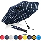 Eono by Amazon - Paraguas Plegable Automático Impermeable, Paraguas de Viaje a Prueba de Viento, Folding Umbrella, Recubrimie