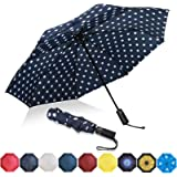 Eono by Amazon - Folding Umbrella Compact Travel Umbrella Durable Rain Umbrella Portable Umbrella with Teflon Coating…