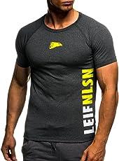LEIF NELSON Gym Herren Fitness T-Shirt Trainingsshirt Training LN06279