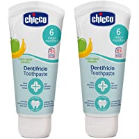Chicco Apple-Banana Toothpaste (6 m+) 50 ml, Pack of 2