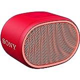 Sony SRS-XB01 tragbarer Bluetooth Lautsprecher (Extra Bass, 6h Akku, Spritzwassergeschützt) rot