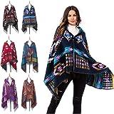 LifeUp Ponchos para Mujer,Encapuchado Poncho Cape Abrigo de Abrigo,Envoltura del mantón Capa - De Punto Suéteres de Invierno