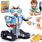 ATCRINICT STEM Toys Building Blocks Robots Kit Educational Science Kits Toys Learning Science Building Toys-Remote Control ST