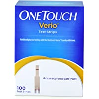 OneTouch Verio Test Strips 100 Count (Multicolor)