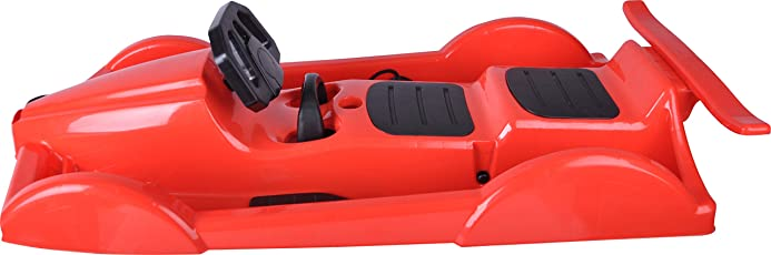 Almwerk Kinder Lenk-Rodel Schlitten Bob XXL Auto in blau oder rot