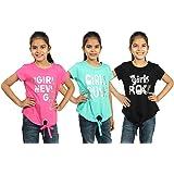MINNOW Girls' T-Shirt (Pack of 3)