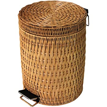 Step Trash Can Trash Can With Lid Rattan Amp Wicker
