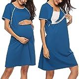HAPPY MAMA Femme Accouchement H/ôpital Robe Chemise Allaitement Grossesse 539p