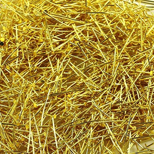 pomcat 2,5cm lang 250g Gold Pailletten Pins Stahl Gerade Feine Shirt Craft Satin