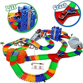 circuit flexible circuit voiture enfant jeu circuit avec accessories 288 pcs rails. Black Bedroom Furniture Sets. Home Design Ideas