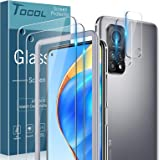 TOCOL 2 Pack Screen Protector with 2 Pack Camera Lens Protector Compatible with Xiaomi 10T Pro 5G 9H Hardness HD Clear Alignm