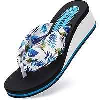 AFFINEST Tongs Femmes été Cuir Sandales Plage Piscine Chaussures Légères Confort Doux Classique Flip Flop Antidérapante…