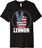 John Lennon - Red, White, Blue Peace T-Shirt