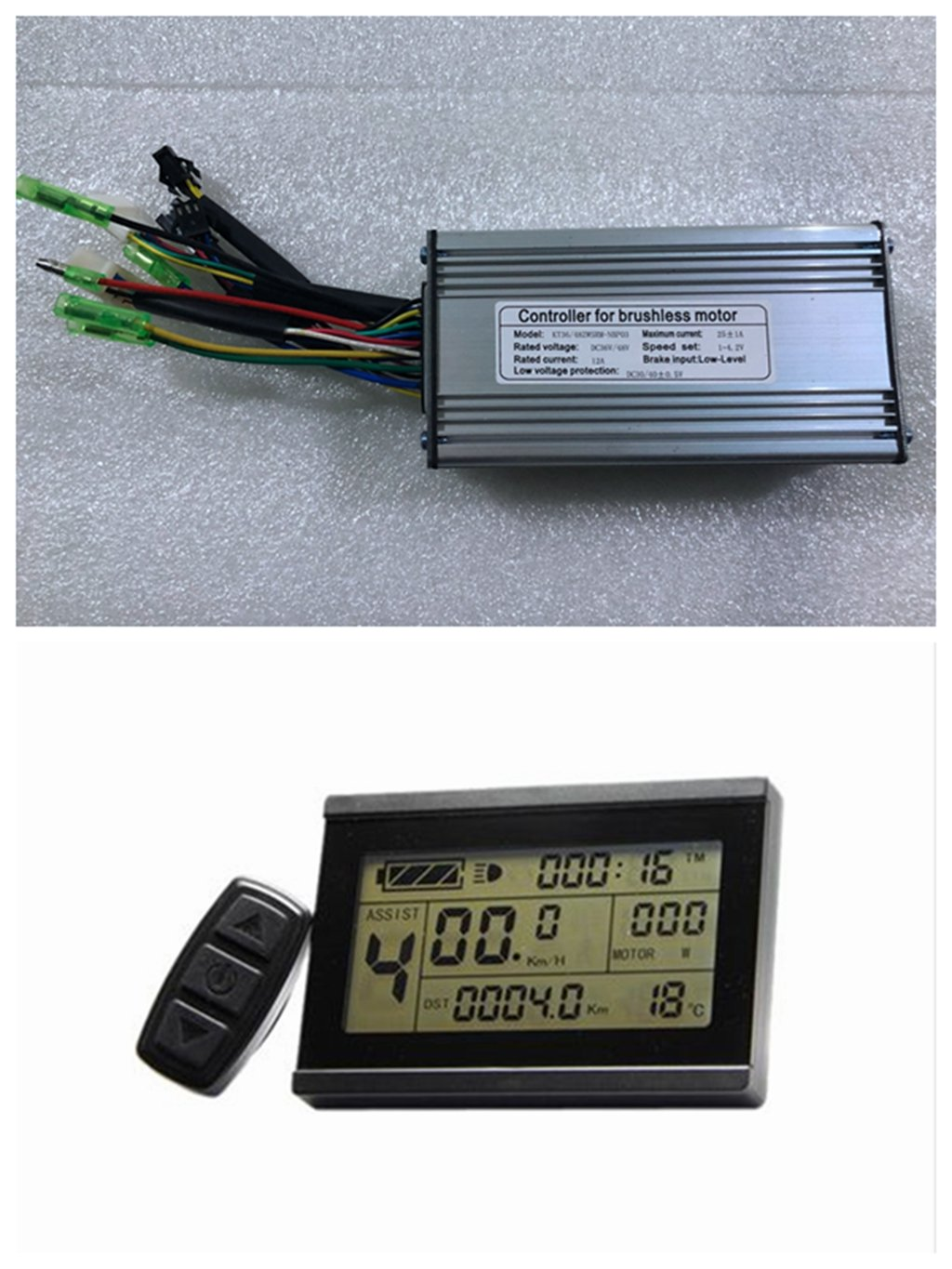 71A0MZaClwL - NBPOWER 36V/48V 750W 25A Brushless DC Motor Controller Ebike Controller +KT-LCD3 Display One Set,used for 750W-1000W…