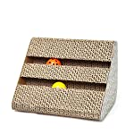 Electomania Cat Scratching Pad Toy with Inside Bell Balls (Gray)