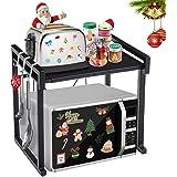GEMITTO Scaffale per microonde allungabile Scaffale per forno a microonde Contenitore da cucina per impieghi gravosi con 3 ga