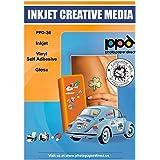 PPD 20 x Stickers A4, Films Autocollants PREMIUM, Fini Brillant, Qualité Photo, Personnalisables , Impression Jet d'Encre, 20