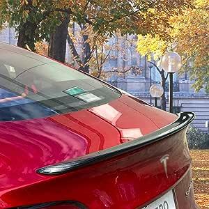 Spoiler Posteriori per Auto Racing Car Coda Alettone Posteriore Carbonio Migliorare la stabilit/à Car,Black nonfading KATLY Alettone Auto per Tesla Model 3