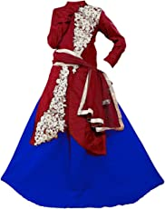 BHOOMI EXPORT Girl'S Benglori Silk-Net Semi-Stitched Lehengha Choli,Salwar Suit.Dresss(Kid'S Wear 7-9 Year Age Free Size Available)