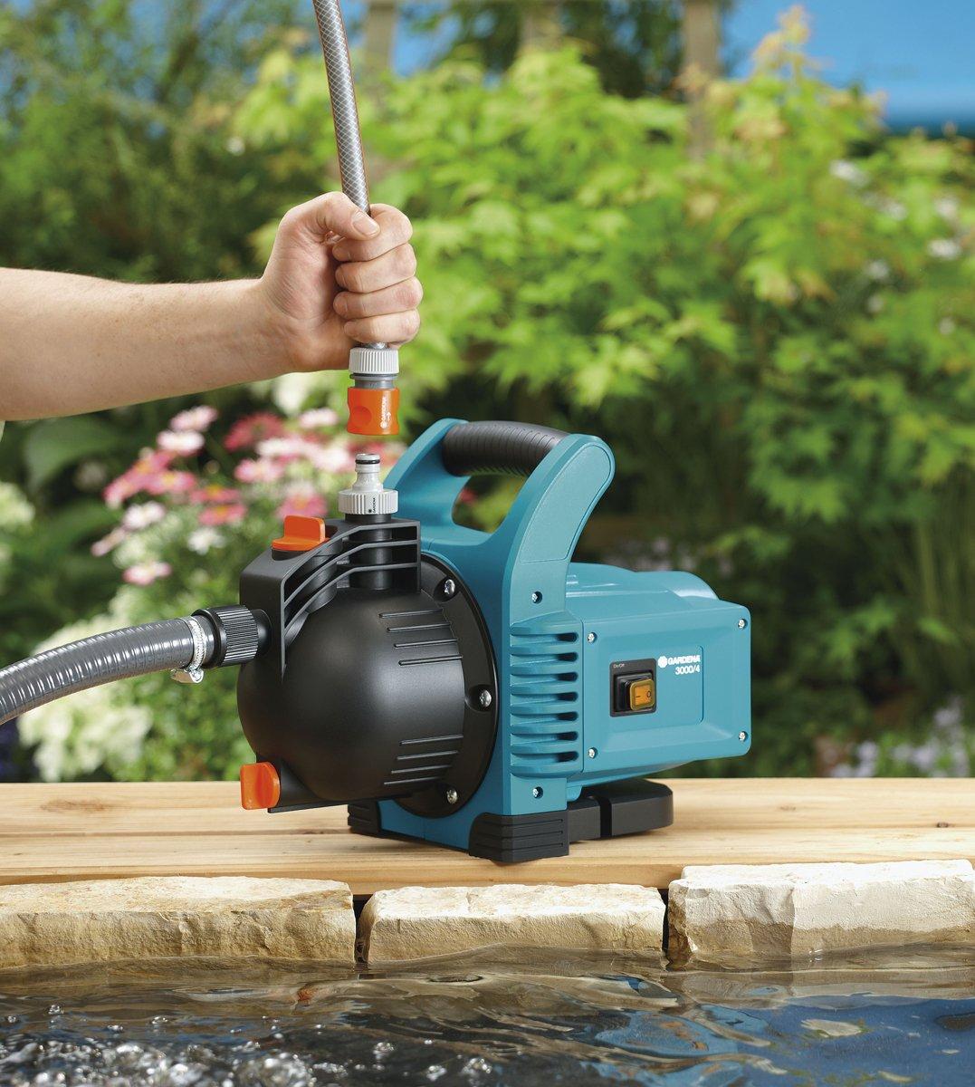 Gardena Gartenpumpe Classic 3000/4: Bewässerungspumpe für den Einsatz im Freien, mit 3100 l/h Fördermenge, geräuscharm…