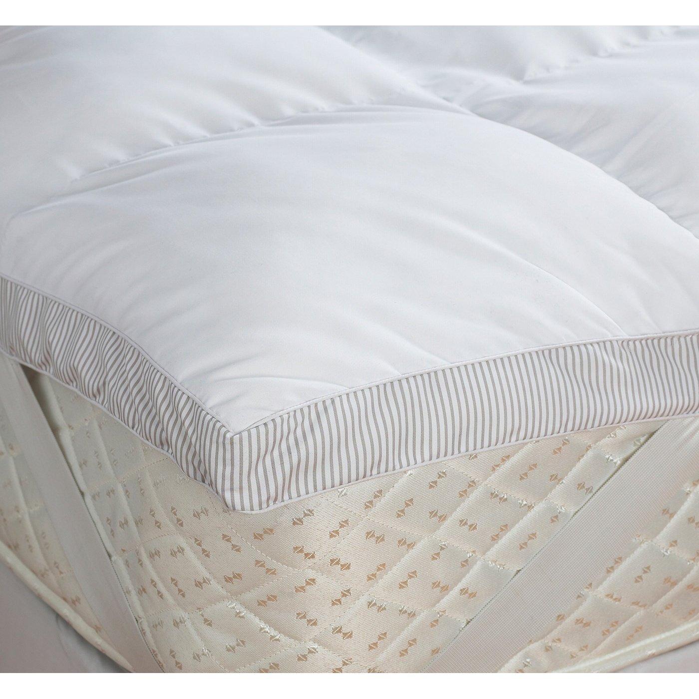 riva paoletti ambassador mattress toppers white king amazoncouk kitchen u0026 home