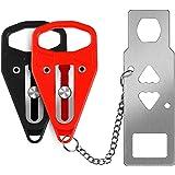 2Pcs Portable Door Lock, Travel Lock, School Lockdown Lock and Security Locks for Travel Family Apartments Residence Hotel