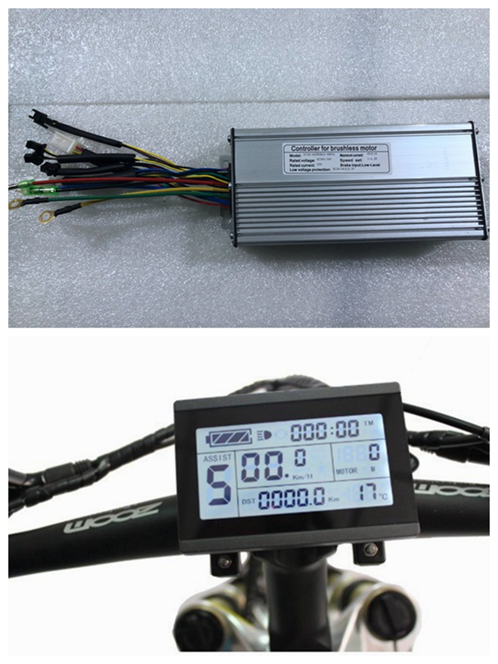 NBPOWER 36V/48V 1500W 40A Brushless DC Motor Controller Ebike Controller +KT-LCD3 Display One Set,used for 1500W-2000W…