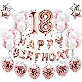JeVenis 38 stycken 18-årsdagsdekorationer 18-årsdag ballonger 18-årsdag partytillbehör