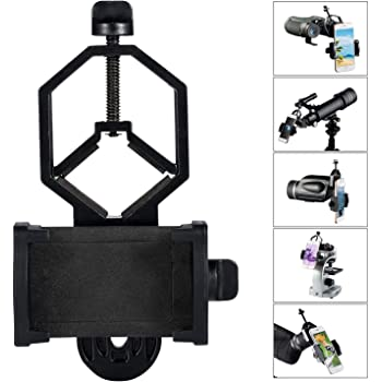 BOBLOV CM-4 Cellphone Adapter Mount Compatible with Diameter 25mm-48mm Binocular//monocular//Spotting Scope//Astrophotography Compatible Samsung//iPhone//Galaxy//HUAWEI and Other Smart Phone