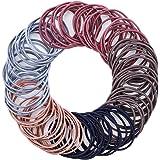 fanshiontide 100 Piezas Multicolor Elástico Pelo Gomas Suave Elástico, 2 mm en Espesor Pelo de Niñas Pequeñas Coleteros Elást